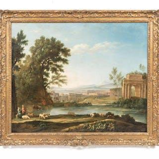 School of Claude Lorraine Capriccio Oil Landscape