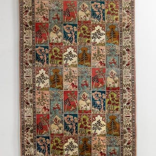 Wall Hanging Handwoven Silk Qum Rug