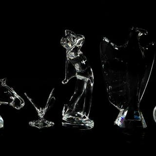 Baccarat Grouping of Five Crystal Figurines