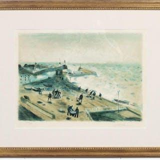 """Gaston Sebire, """"The Pier"""" Lithograph 110/175"""