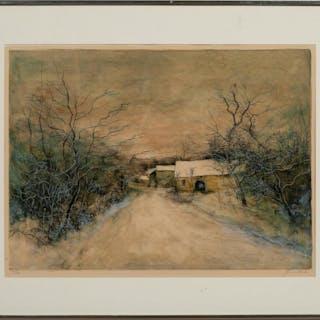 """Bernard Gantner """"Chaumieres Sous La Neige"""" 122/150"""