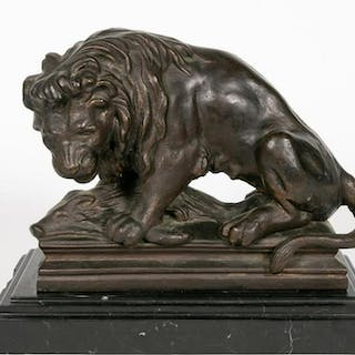 Manner of Antoine-Louis Barye Lion and Boar Figure
