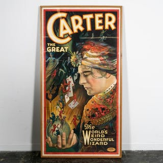 Large, Carter The Great 3 Sheet Advertising Poster