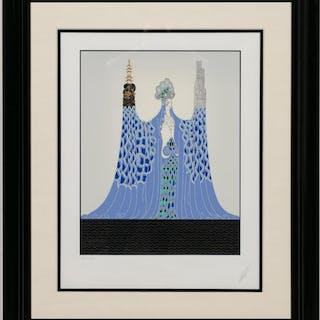 """Erte, """"Ocean Pacifique"""" 1986 Framed Serigraph"""