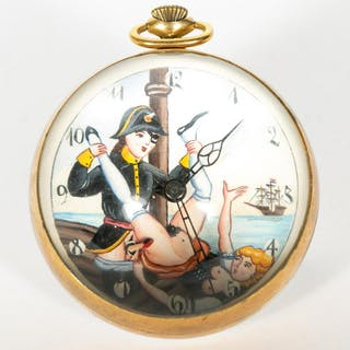 Erotic Tellus Maritime Theme Glass Ball Desk Clock