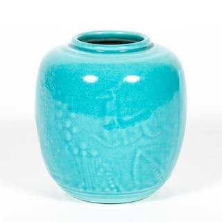 Rookwood Deco Style Blue Small Vase