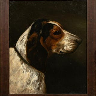 Attributed To Alexander Pope Jr, Beagle Portrait