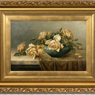 George McConnell, Floral Still Life Oil,  1908