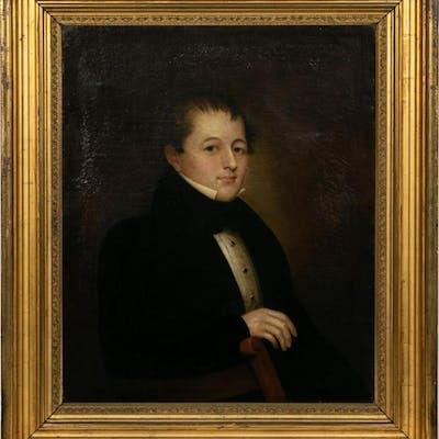 American School Portrait of a Young Gentleman