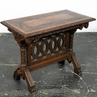 Cincinnati Art Carved Parlor Table, 1876