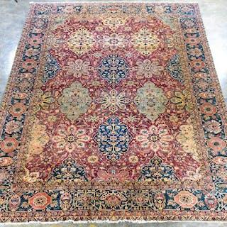 "Handwoven Indo-Tabriz Carpet, 17' 5"" x 11' 10"""