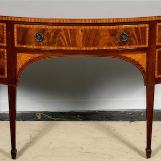Hepplewhite Style Flame Mahogany Inlaid Sideboard