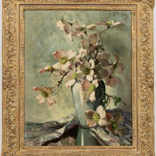 Volney Allan Richardson, Floral Still Life, Oil