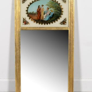 American Federal Eglomise Tabernacle Mirror