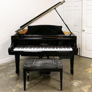 Sherman Clay Ebonized Baby Grand Piano, Bench