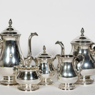 "5 PC. International ""Prelude"" Sterling Tea Service"