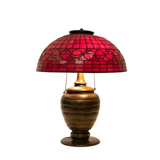 Tiffany Style Beehive Stained Glass Table Lamp