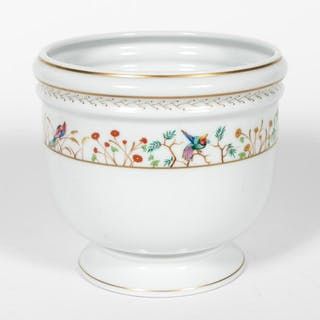 "Tiffany & Co Limoges ""Audubon"" Porcelain Cache Pot"