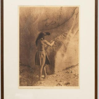 "Edward S. Curtis ""Primitive Artist"", Photogravure"