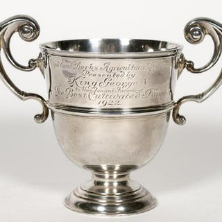 English George V Silver Royal Presentation Cup