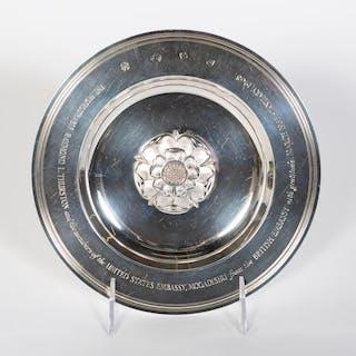 Asprey Sterling Silver British Embassy Plate