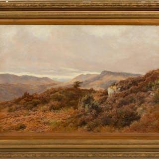19th Century, Sidney R. Cadogan Scottish Landscape