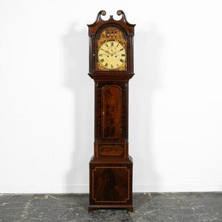 19th C. Mahogany Scottish Masonic Tall Case Clock