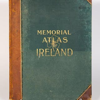 "Leather Bound ""Memorial Atlas of Ireland"", 1901"