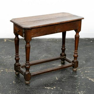 19th C. William and Mary Turned Leg Side Table