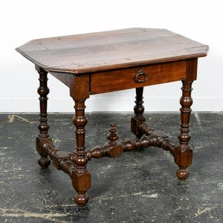 19th C. English William and Mary Turned Leg Table