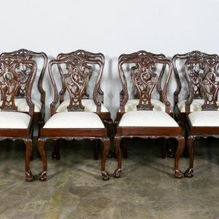 Set of Twelve Chippendale Style Tassel Back Chairs