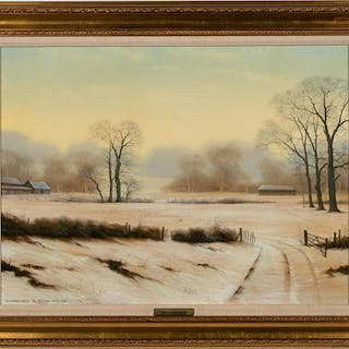 "Michael John Hill ""December Down"" Landscape"