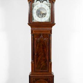 1810 William Nickisson Mahogany Long Case Clock