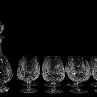 "Waterford Crystal  ""Lismore""  Snifters & Decanter"