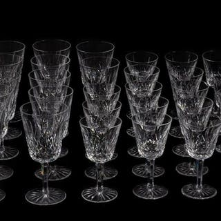 "39 PC., Waterford ""Lismore"" Stemware Collection"