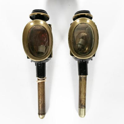 Pair, English 19th Century Carriage Lamps