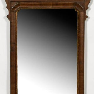 18th Century, Queen Anne Mahogany Wall Mirror