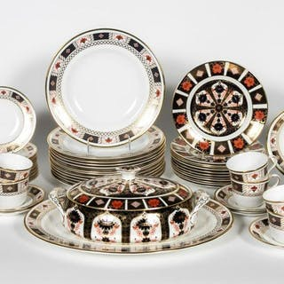 63 PC., Royal Crown Derby 'Old Imari' & 'Border'