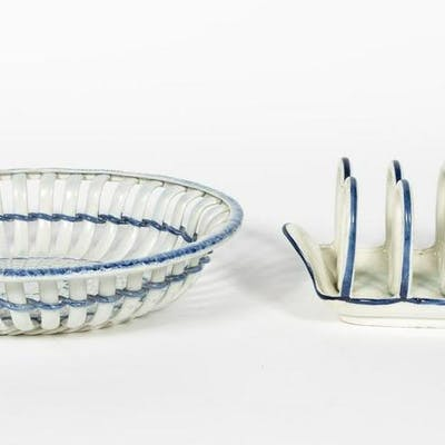 Two 19th C. English Pearlware Serving Pieces