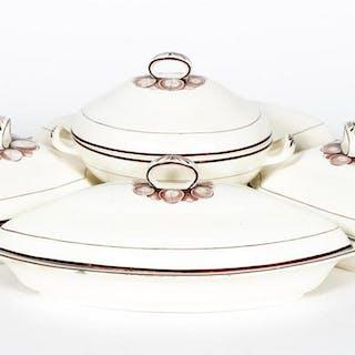 18th Century, Davenport Creamware Sweetmeat Set