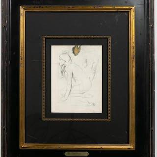 "Edgar Degas ""Etude de Nu Pour Semiramis"", Litho"