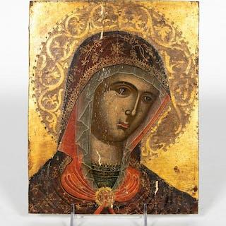 Period Renaissance Italian School Madonna on Panel