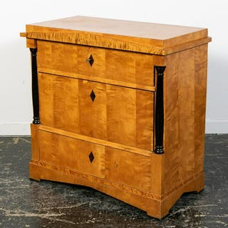 19th C. Architectural Form Biedermeier Chest