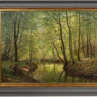 Andreas Fritz, Marselisborg Forest 1882, Oil
