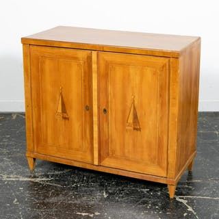 19th C. Continental Two Door Inlaid Cabinet