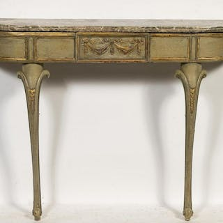 Italian Neoclassical Polychrome Console Table