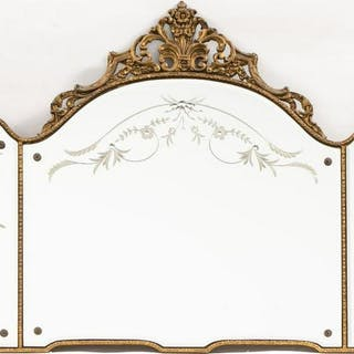 Neoclassical Style Long Gilt Overmantel Mirror
