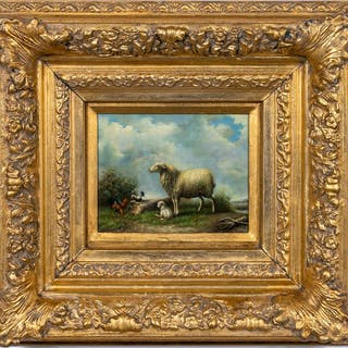 Manner of Jacob van Dieghem, Oil Pastoral Scene