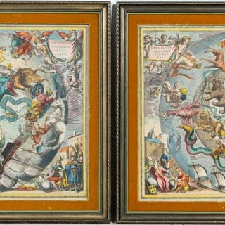 Pair, Hand-Colored Engravings After Janssonius