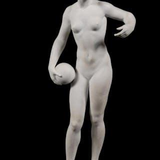 Rosenthal Bisque Nude Female Athlete Figurine